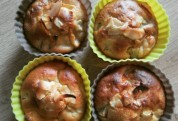 Muffins Pomme-Rhubarbe amande