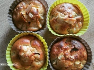 Muffins Pomme-Rhubarbe amande